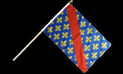 Stockflagge Frankreich Allier - 30 x 45 cm