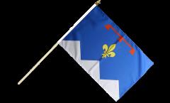 Stockflagge Frankreich Alpes-de-Haute-Provence - 30 x 45 cm
