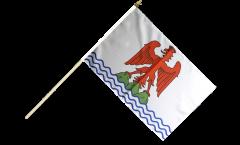 Stockflagge Frankreich Alpes-Maritimes - 30 x 45 cm