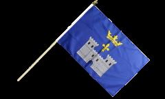 Stockflagge Frankreich Angoulême - 30 x 45 cm