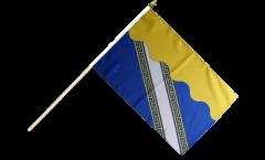 Stockflagge Frankreich Aube - 30 x 45 cm