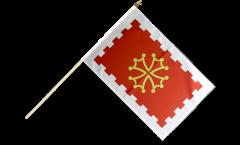 Stockflagge Frankreich Aude - 30 x 45 cm