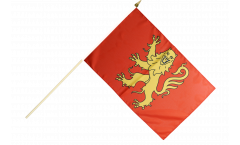 Stockflagge Frankreich Aveyron - 30 x 45 cm