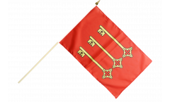 Stockflagge Frankreich Avignon - 30 x 45 cm