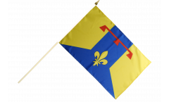 Stockflagge Frankreich Bouches-du-Rhône - 30 x 45 cm
