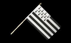 Stockflagge Frankreich Bretagne - 30 x 45 cm