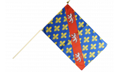 Stockflagge Frankreich Creuse - 30 x 45 cm