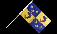 Stockflagge Frankreich Dauphiné - 30 x 45 cm