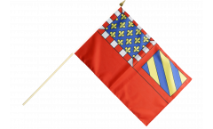Stockflagge Frankreich Dijon - 30 x 45 cm