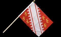 Stockflagge Frankreich Elsass neu