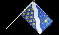 Stockflagge Frankreich Essonne - 30 x 45 cm