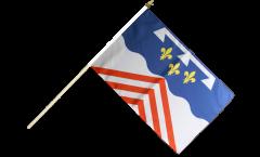 Stockflagge Frankreich Eure-et-Loir - 30 x 45 cm
