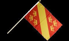 Stockflagge Frankreich Haut-Rhin - 30 x 45 cm