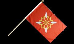 Stockflagge Frankreich Haute-Garonne - 30 x 45 cm