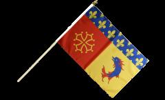 Stockflagge Frankreich Hautes-Alpes - 30 x 45 cm
