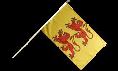 Stockflagge Frankreich Hautes-Pyrénées - 30 x 45 cm
