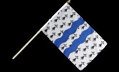Stockflagge Frankreich Ille-et-Vilaine - 30 x 45 cm
