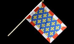 Stockflagge Frankreich Indre-et-Loire - 30 x 45 cm