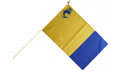 Stockflagge Frankreich Isère - 30 x 45 cm