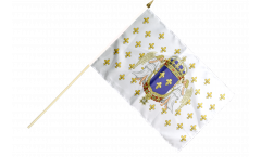 Stockflagge Frankreich Königreich 987 - 1791 - 30 x 45 cm