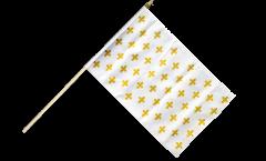 Stockflagge Frankreich Lilienwappen, weiß - 30 x 45 cm