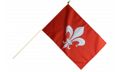 Stockflagge Frankreich Lille - 30 x 45 cm