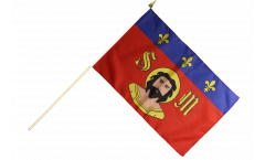 Stockflagge Frankreich Limoges - 30 x 45 cm