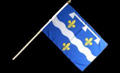 Stockflagge Frankreich Loiret - 30 x 45 cm