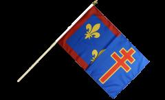 Stockflagge Frankreich Maine-et-Loire - 30 x 45 cm