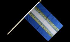 Stockflagge Frankreich Marne - 30 x 45 cm