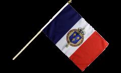 Stockflagge Frankreich mit königlichem Wappen