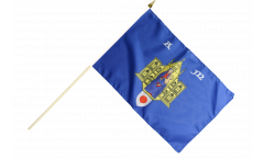 Stockflagge Frankreich Montpellier - 30 x 45 cm