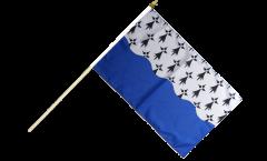 Stockflagge Frankreich Morbihan - 30 x 45 cm