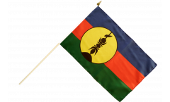 Stockflagge Frankreich Neukaledonien Kanaky - 30 x 45 cm