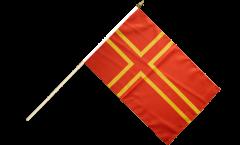 Stockflagge Frankreich Normandie St. Olavs Kreuz