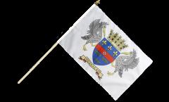 Stockflagge Frankreich Saint-Barthélemy - 30 x 45 cm