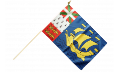 Stockflagge Frankreich Saint-Pierre und Miquelon - 30 x 45 cm