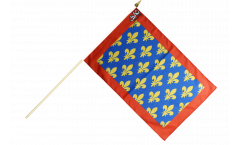 Stockflagge Frankreich Sarthe - 30 x 45 cm