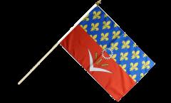 Stockflagge Frankreich Seine-Saint-Denis - 30 x 45 cm