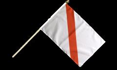 Stockflagge Frankreich Straßburg - 30 x 45 cm