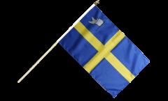 Stockflagge Frankreich Toulon - 30 x 45 cm