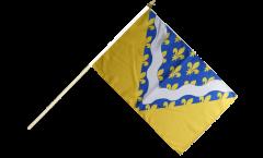 Stockflagge Frankreich Val-de-Marne - 30 x 45 cm