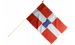 Stockflagge Frankreich Valence - 30 x 45 cm