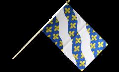 Stockflagge Frankreich Yvelines - 30 x 45 cm