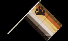 Stockflagge Gay Pride Bear - 30 x 45 cm