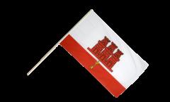 Stockflagge Gibraltar - 60 x 90 cm