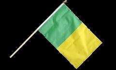 Stockflagge Grün-Gelb - 30 x 45 cm