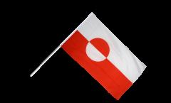 Stockflagge Grönland - 60 x 90 cm