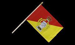 Stockflagge Großbritannien British Army Royal Armoured Corps - 30 x 45 cm