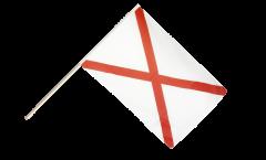 Stockflagge Großbritannien St. Patrick-Kreuz